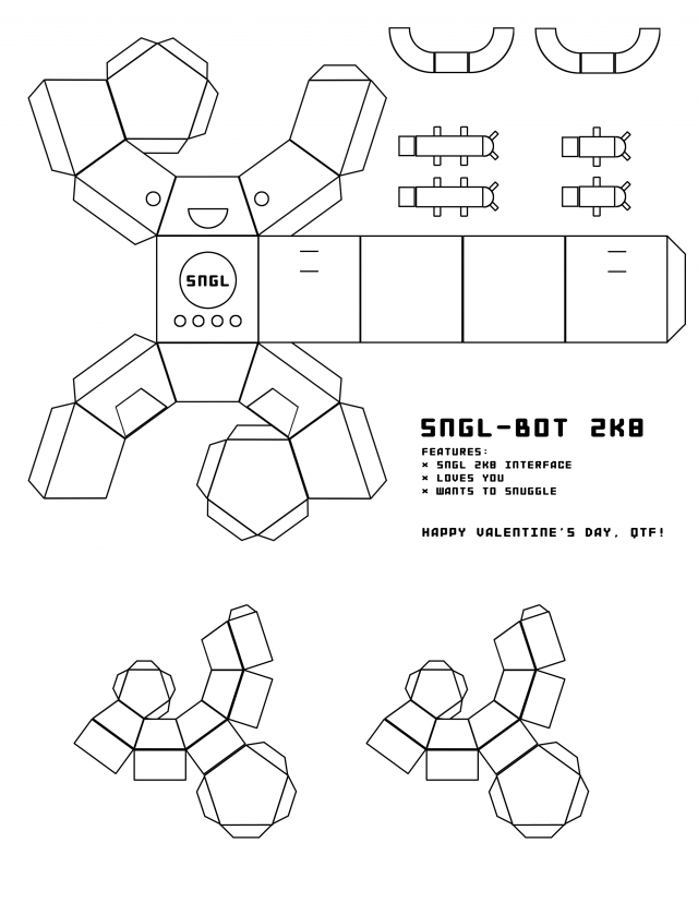 SNGL-BOT 2K8 | Paper model